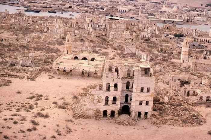 vista aérea de las ruinas de Suakin