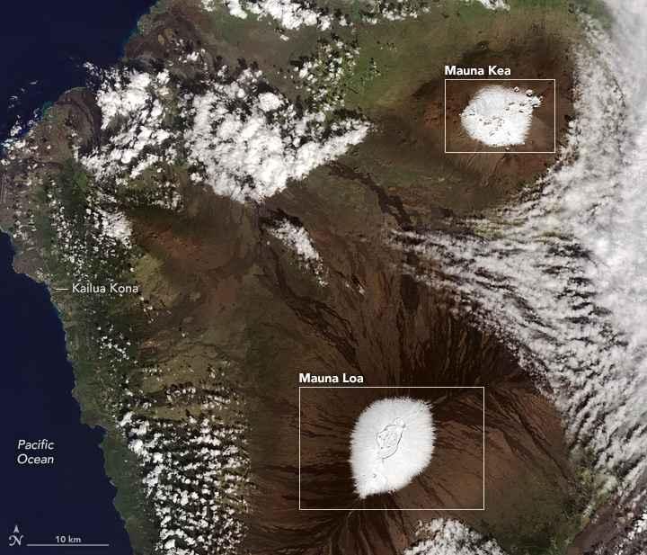 volcanes nevados en Hawái