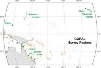 zonas de investigación de la campaña CORAL