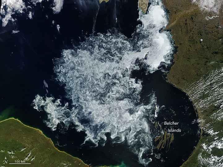 Hielo marino en la Bahía de Hudson