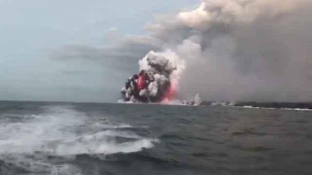 bomba de lava del volcán Kilauea