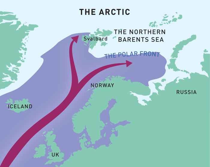 corriente del Atlántico al Mar de Barents