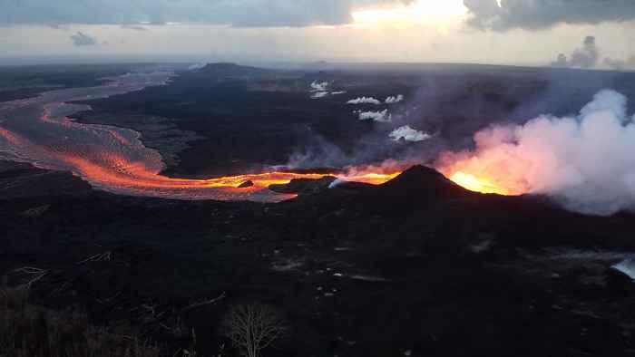 flujo de lava de la fisura 8 del Kilauea
