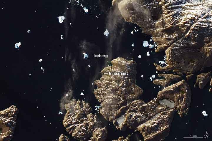 iceberg Innaarsuit de Groenlandia, nasa
