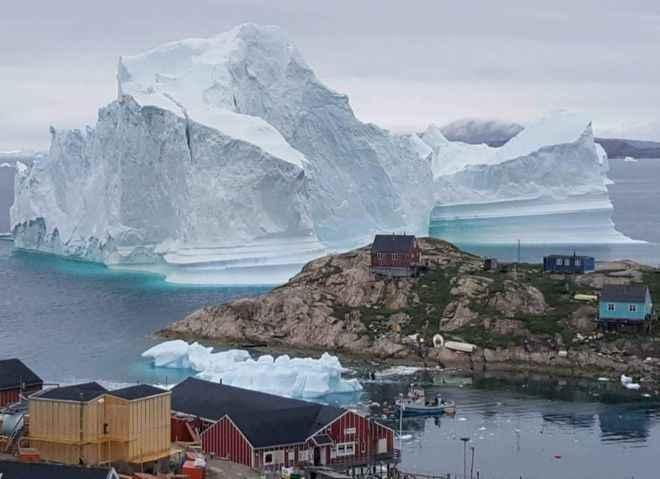 iceberg en Innaarsuit, Groenlandia