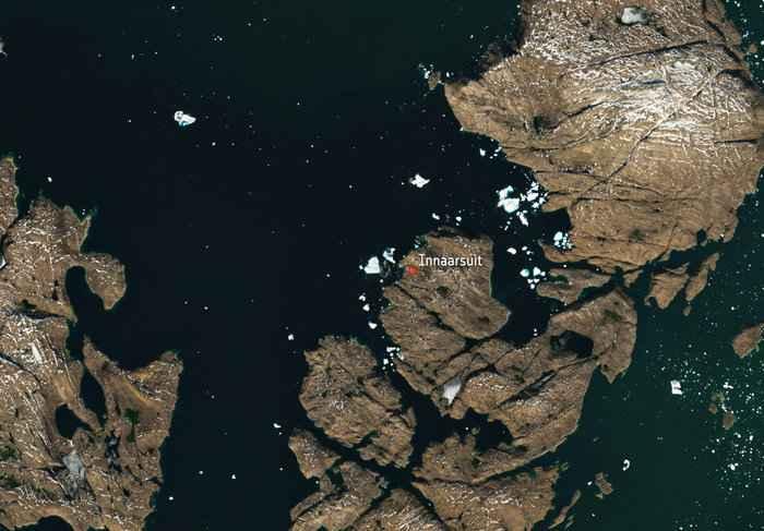 iceberg Innaarsuit, Groenlandia
