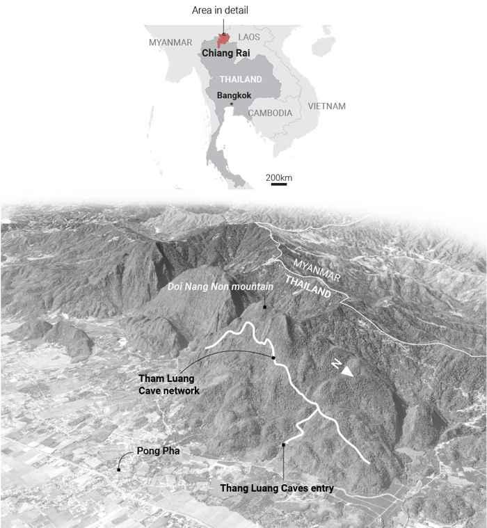 montañas Mae Sai de Tailandia