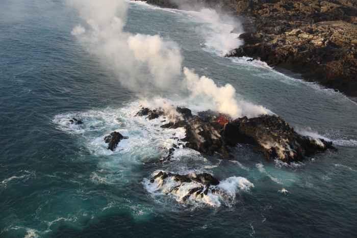 nuevo islote en Hawái, detalle