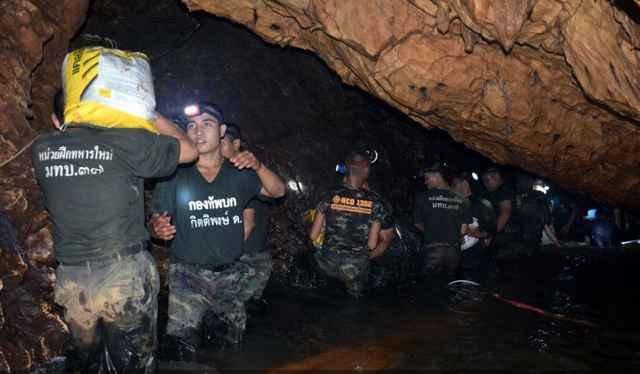 operación rescate en la cueva de Tailandia