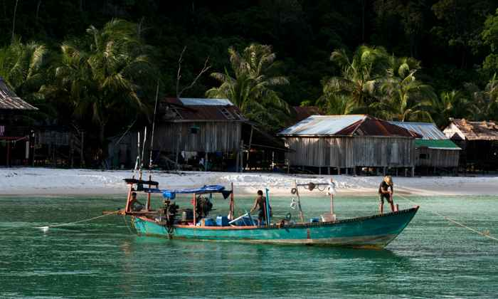 pesca tradicional en Camboya