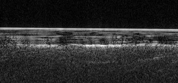 radargrama de la superficie de Marte