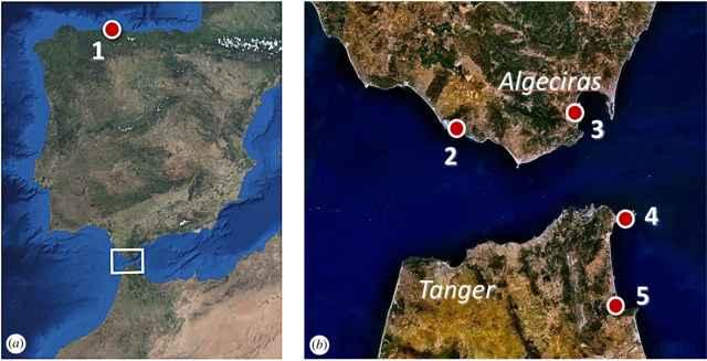 sitios arqueológicos del estudio sobre los romanos