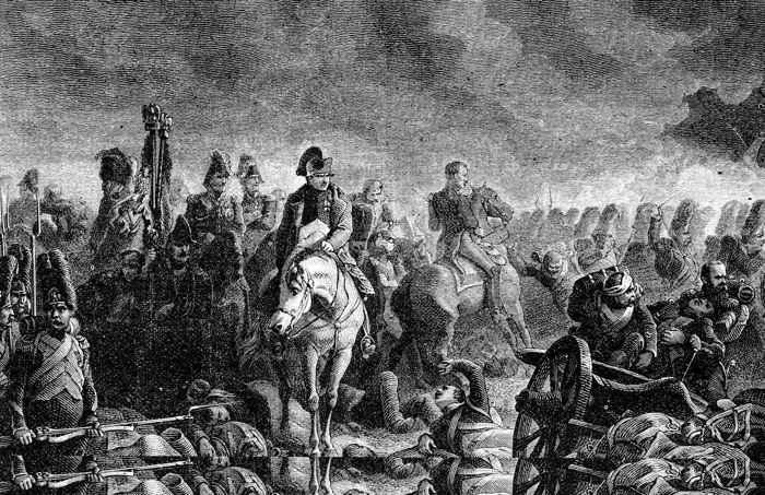 Napoleón en la Batalla de Waterloo