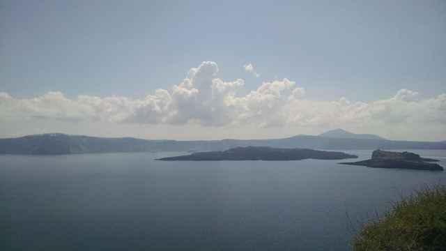 caldera de la isla de Santorini