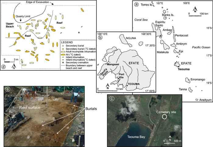 fosas comunes islas Efate y Teouma