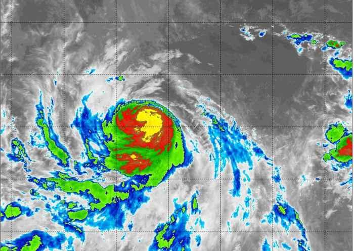 huracán Hector desde satélite