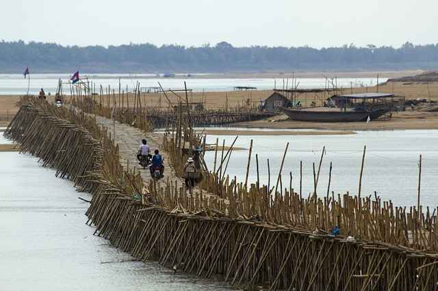 puente de bambú de Kampong Cham