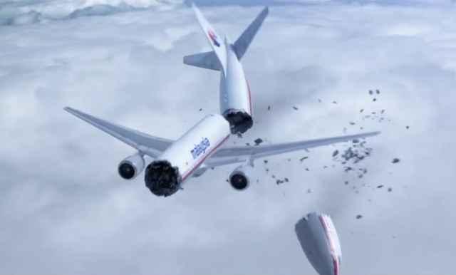 Boeing 777 de Malaysia Airlines derribado
