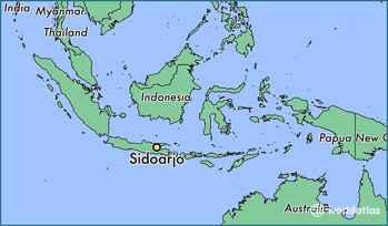 Sidoarjo, situación en el mapa