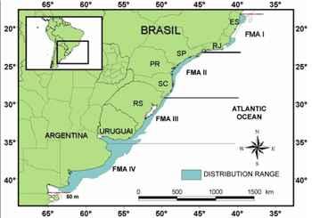 franciscana, distribución