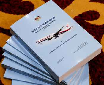 informe oficial sobre el vuelo MH-370