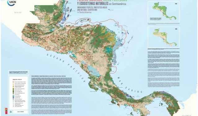mapa indígena de Centroámerica UICN