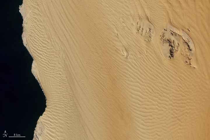 mar de arena de Namibia