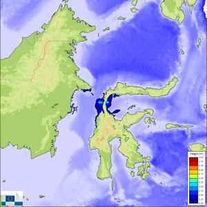 propagación olas del tsunami de Sulawesi