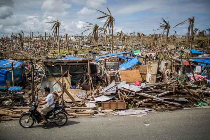 destrucción del tifon Haiyan