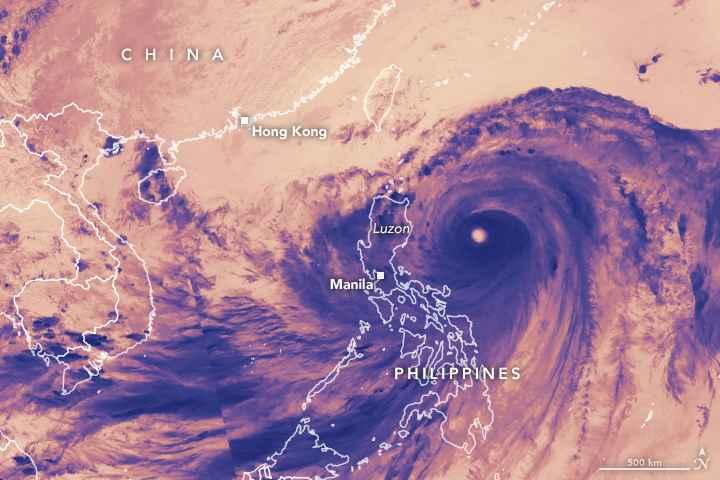 tifón Mangkhut desde satélite 14-09-2018 en infrarrojo