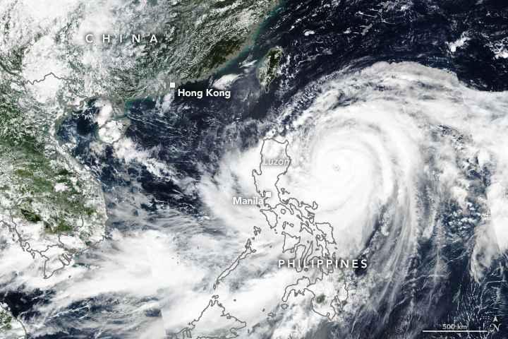 tifón Mangkhut desde satélite 14-09-2018