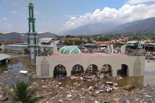 tsunami Palu, Indonesia