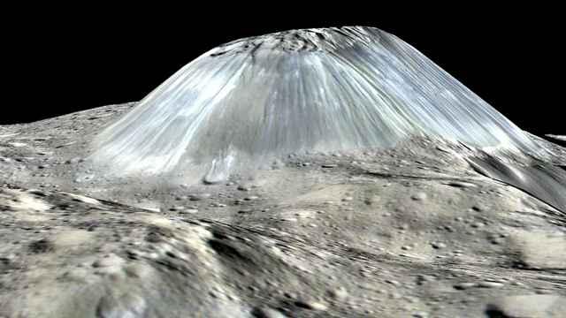 volcán de hielo en Ceres
