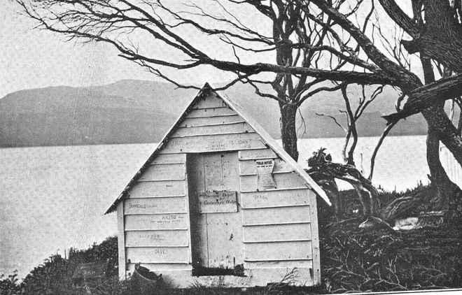 choza para náufragos en Nueva Zelanda