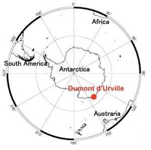estación polar Dumont d Urville, localización