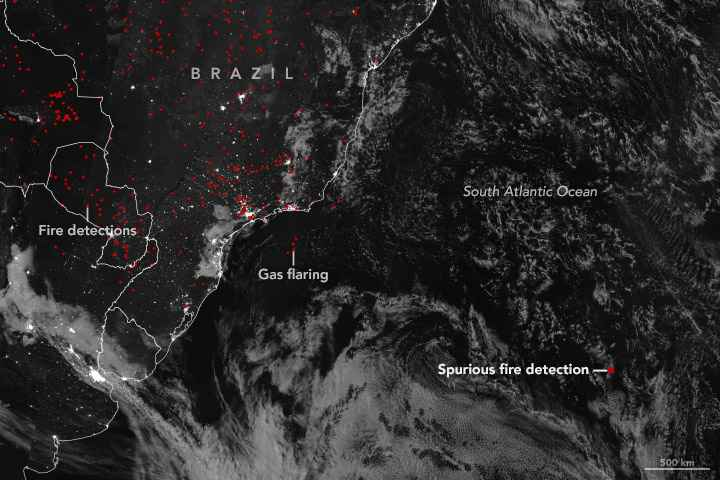 incendio en el Océano Atlántico