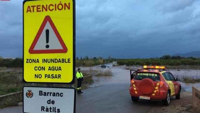 señal de inundación en la Comunidad Valenciana