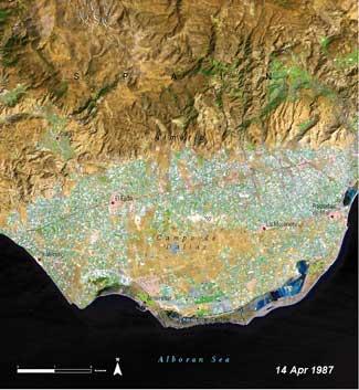 invernaderos en Almeria, 1987