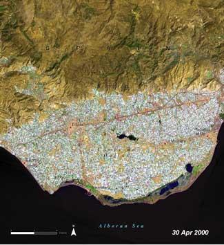 Invernaderos en Almería, año 2000