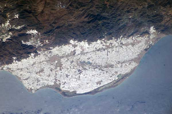 Almeria invernaderos 2004, Earth Observatory