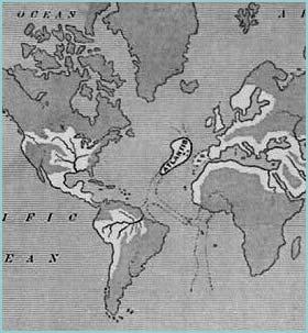 Atlántida en el Océano Atlántico