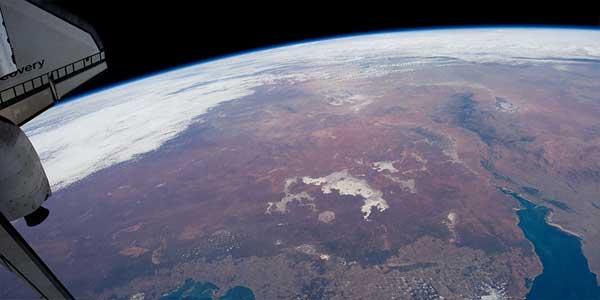 Australia, meseta tibetana, Estación Espacial Internacional