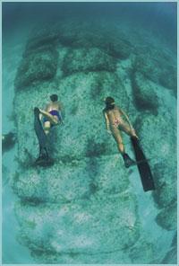 bloques de piedra en Bimini