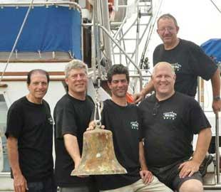 buzos  con la campana del Andrea Doria
