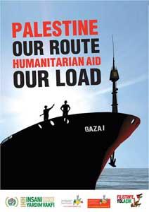 cartel flotilla por libertad de Gaza