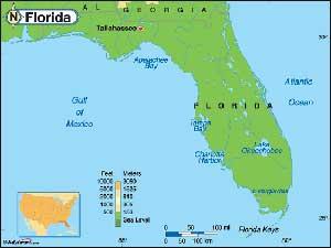 elevacioón  Florida