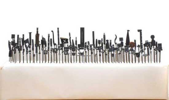 esculturas en mina de lápiz, estropeadas