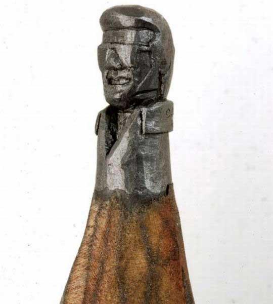 esculturas en mina lápiz, Elvis Presley