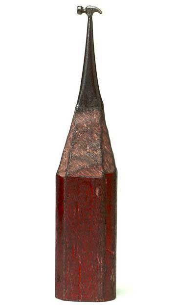 esculturas en mina de lápiz, martillo