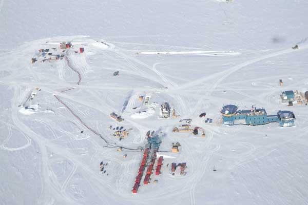 experimento Icecube, Antártida